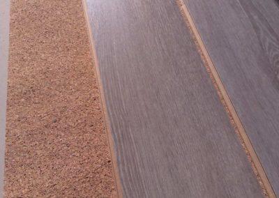 Položení vinylkorkové podlahy na hdf šedý dub