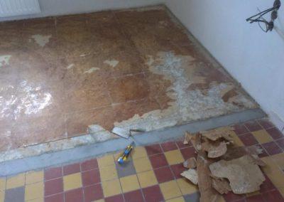 Vyrovnání a úprava podkladu + Vinylkorková podlaha