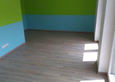 Vyrovnání podkladu + vinylkorková podlaha alaska dub